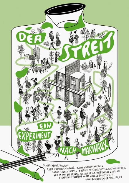 2013 / F4 / Der Streit / Silkscreen